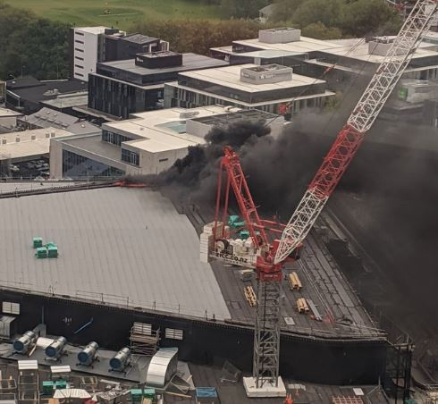 Giant fire at SkyCity Convention Centre