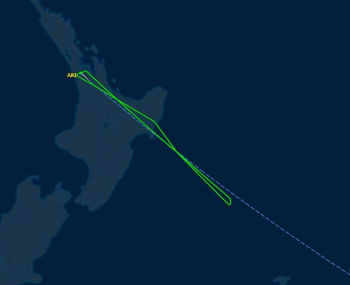 Flight bound for Chile turns back to Auckland an hour in due to 'passenger issue'