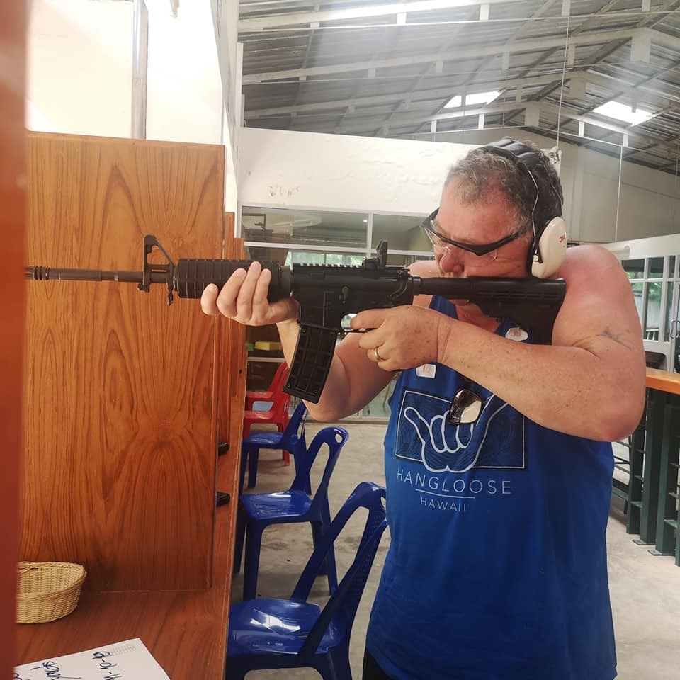 Shane Jones shoots banned AR-15 firearm on overseas holiday