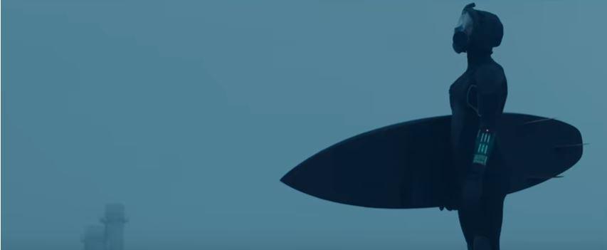 Surfing in the apocalypse: Wetsuit brand's big statement