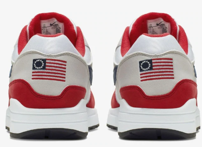 Nike pulls sneaker bearing Betsy Ross flag, a symbol adopted by American extremists and neo-Nazis