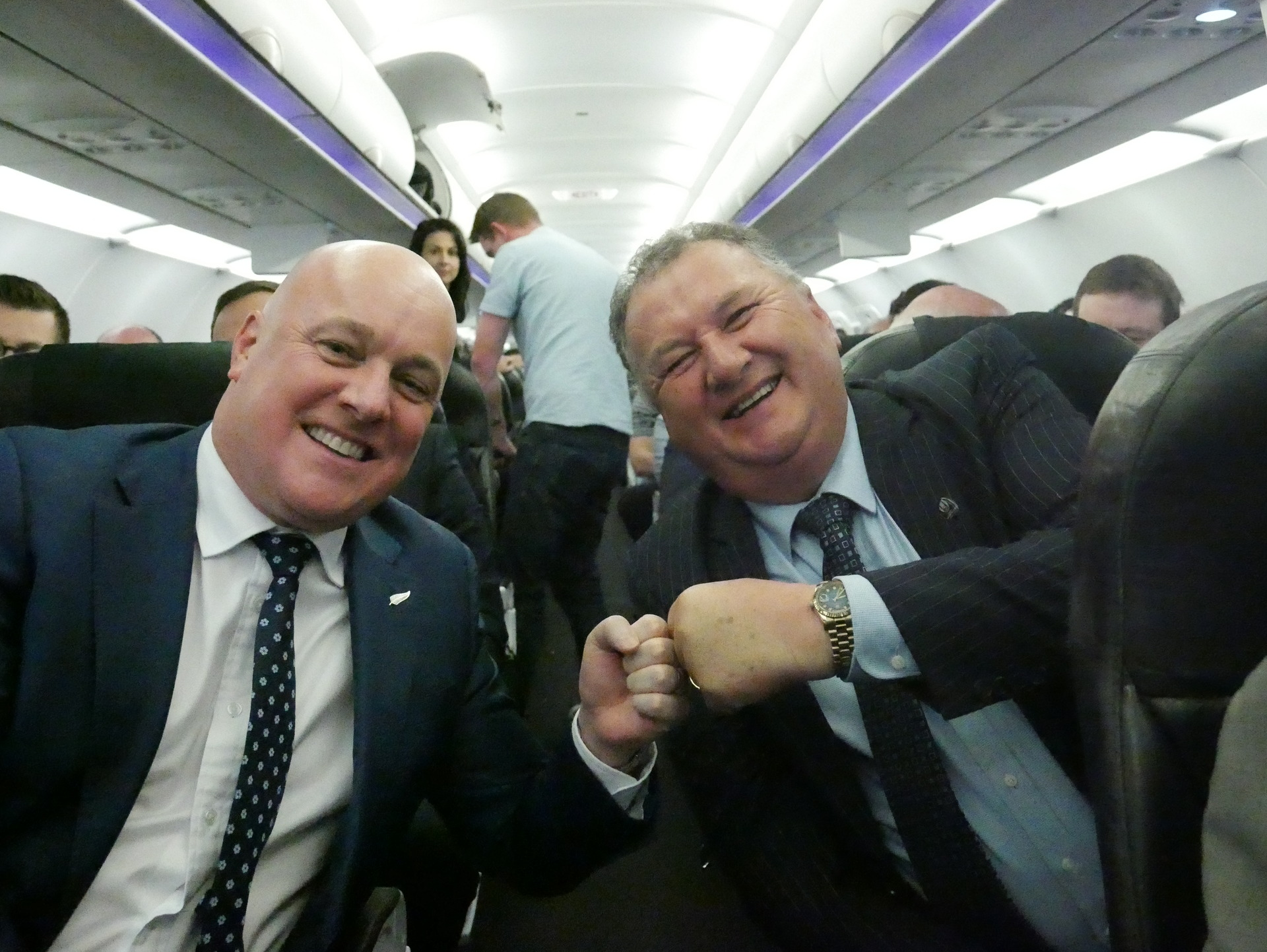 Flight Check: Flying on Air New Zealand's inaugural service from Auckland to Invercargill with Shane Jones and Christopher Luxon