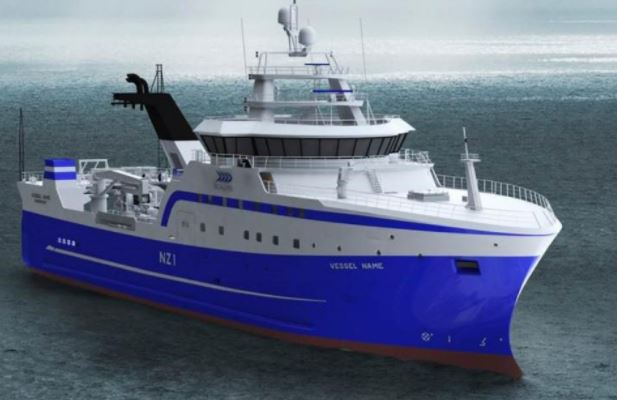 Sealord's new $70m freezer trawler will shortly be
