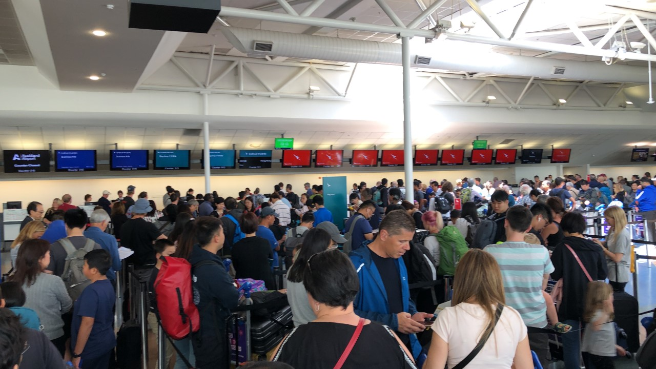 Travel 'chaos': Frustrations continue over airport delays due to global outage
