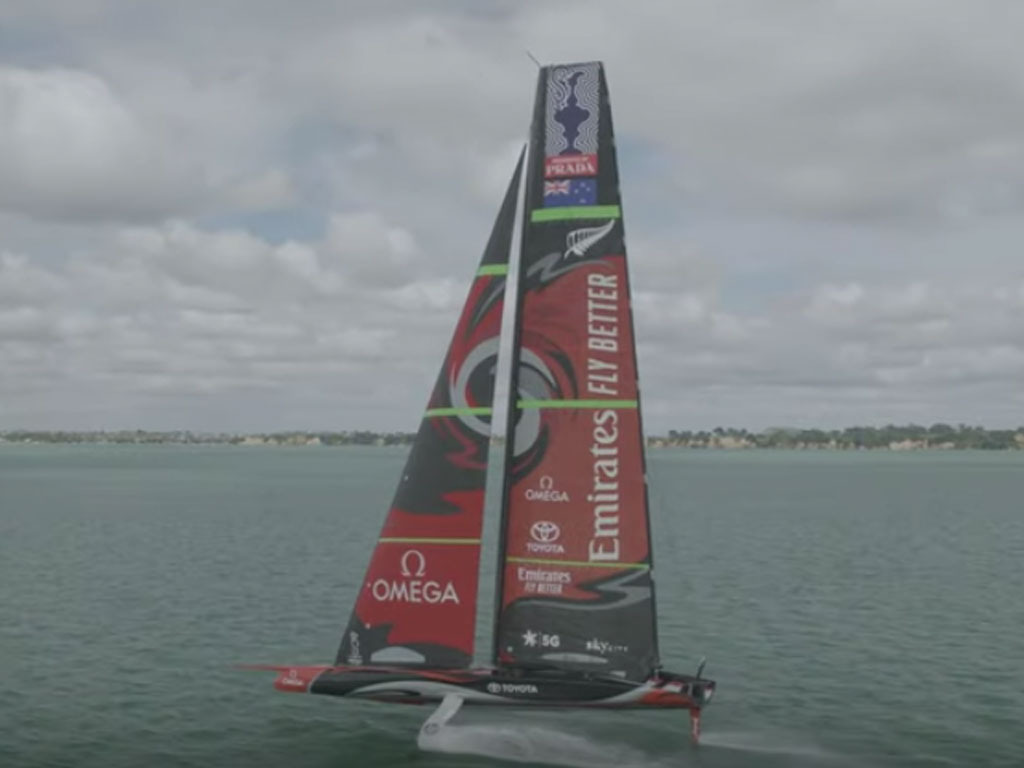 'Chance to throw it around a bit more': Tuke on the new America's Cup boat