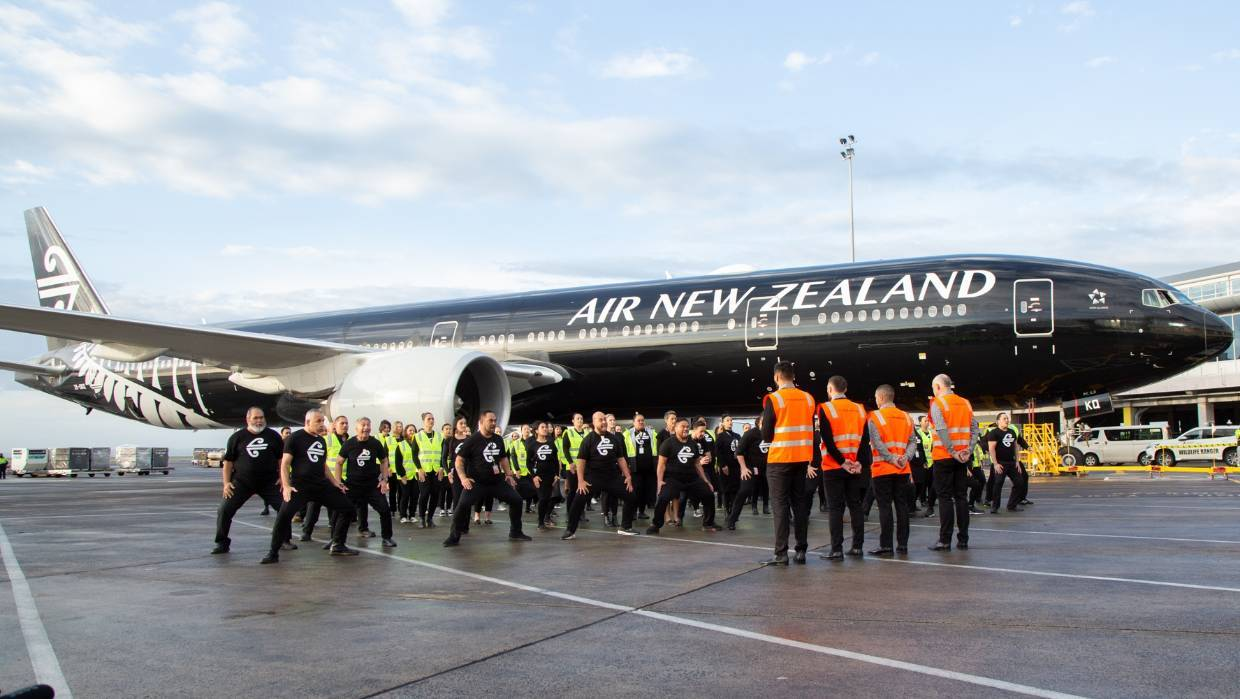 Watch: Air New Zealand's spine-tingling haka for All Blacks