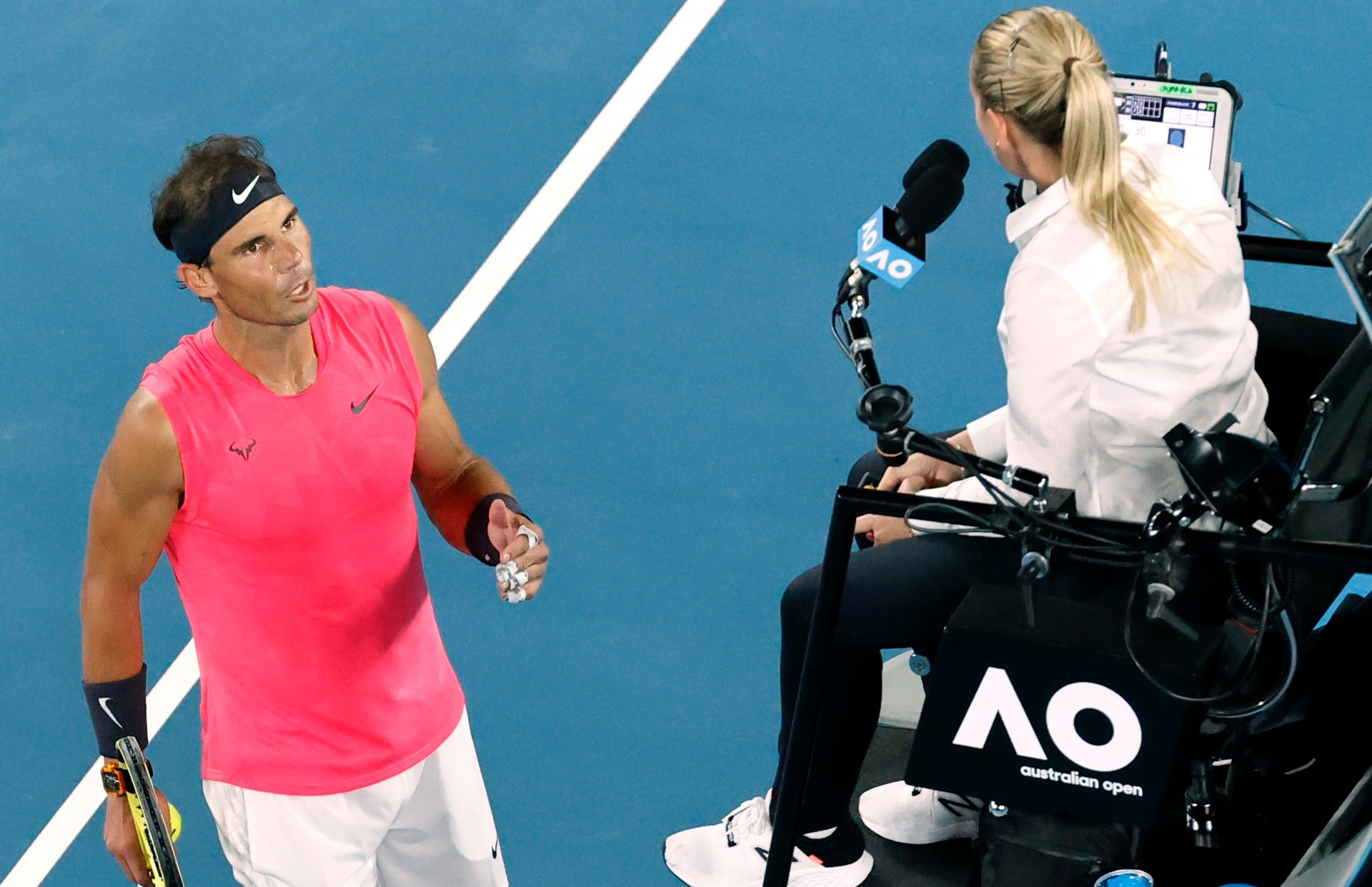 'You don't like good tennis': Nadal rages at umpire before shock exit