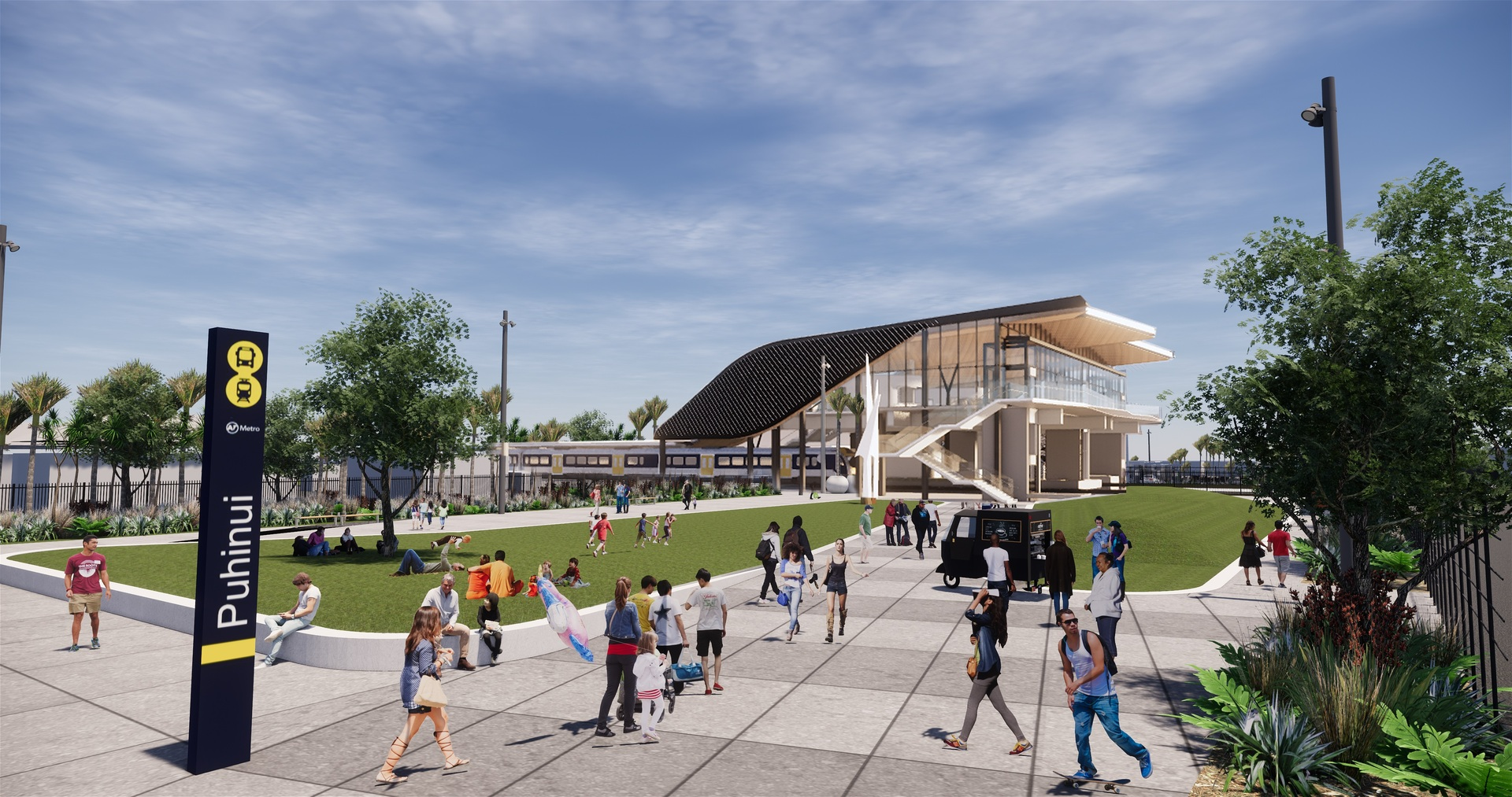 New Puhinui rail interchange and faster journey to Auckland Airport promised