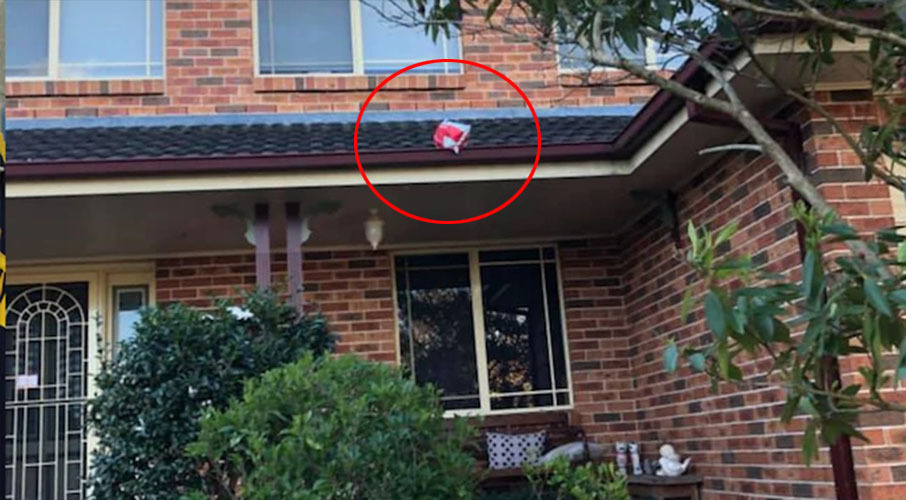 Postie's unbelievable note after throwing delivery on to customer's roof