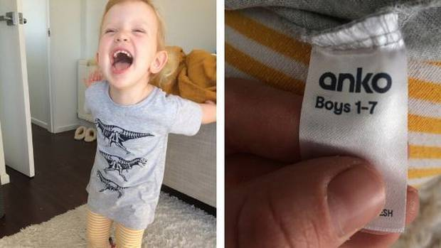'Genderless madness': Kiwis fire up at mum over non-gender clothing label request