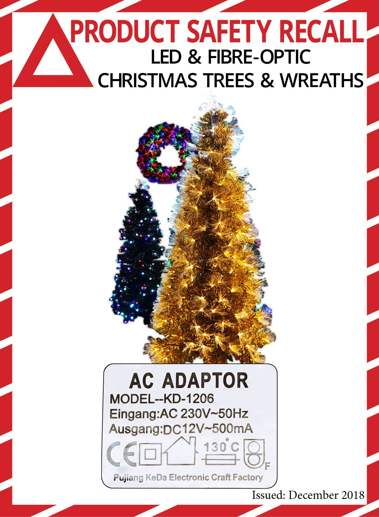 Acquisitions stores recall LED and fibre-optic Christmas Trees and wreaths