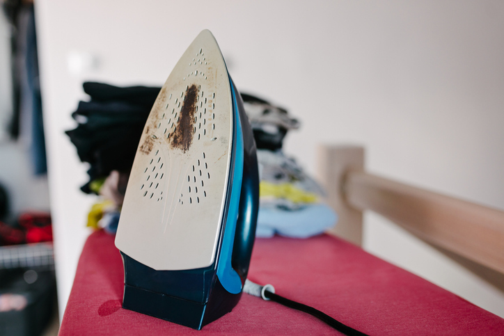 Genius Panadol hack to clean stains off clothing iron