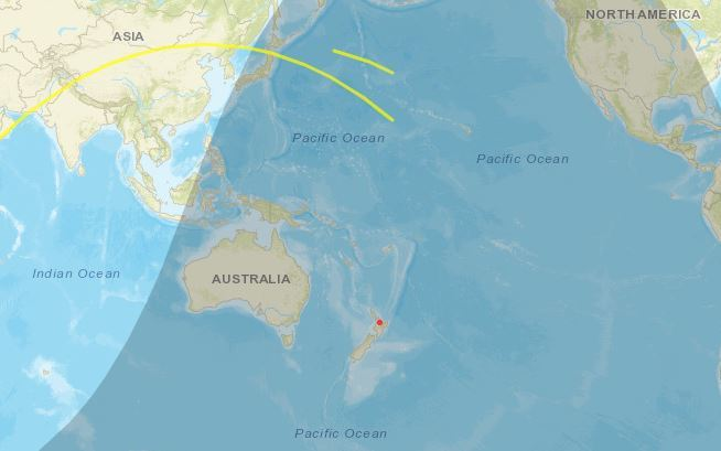 China's space station plummeting towards Earth near NZ - today