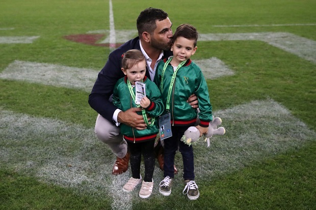 Racist trolls rugby league legend Greg Inglis' young son