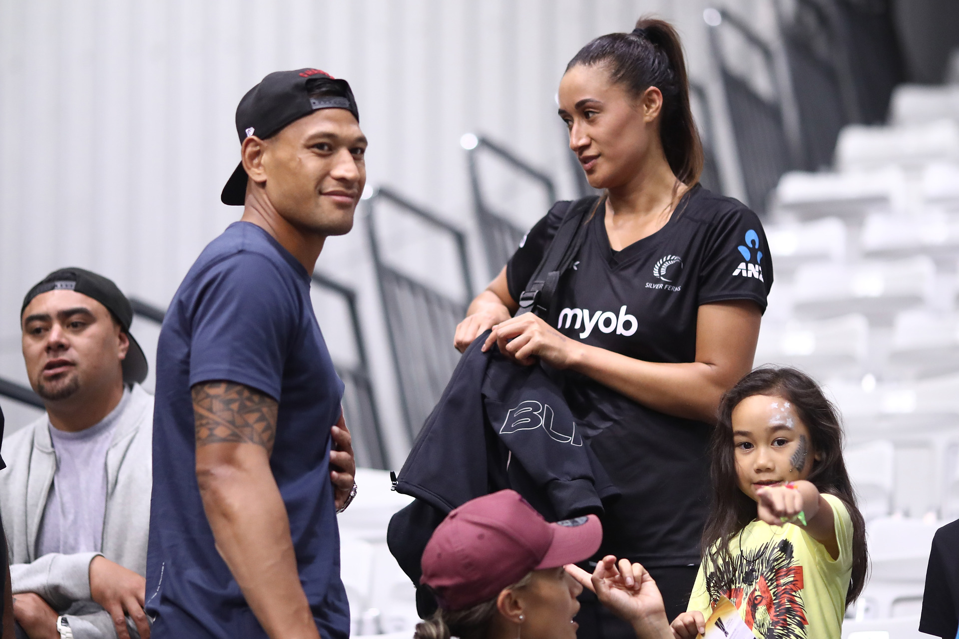 Netball: Israel Folau arrives in Liverpool to support Maria and Silver Ferns at Netball World Cup