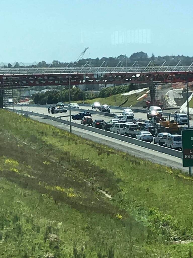 Incident unfolding on Auckland's Northern Motorway