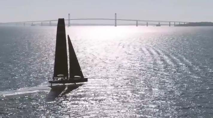 America's Cup: American Magic reveals footage of foiling test boat