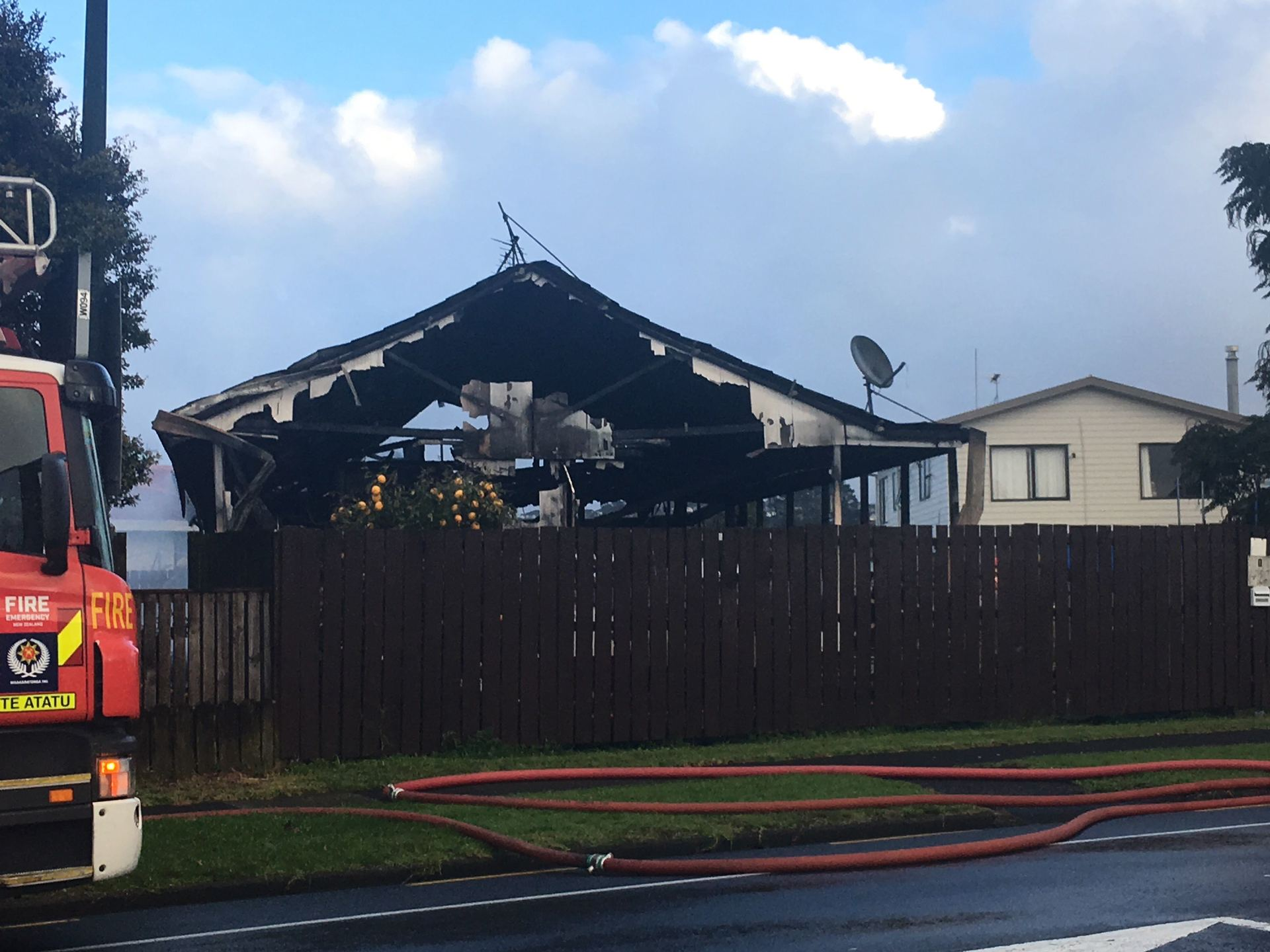 House gutted by fire in Ranui, West Auckland - NZ Herald