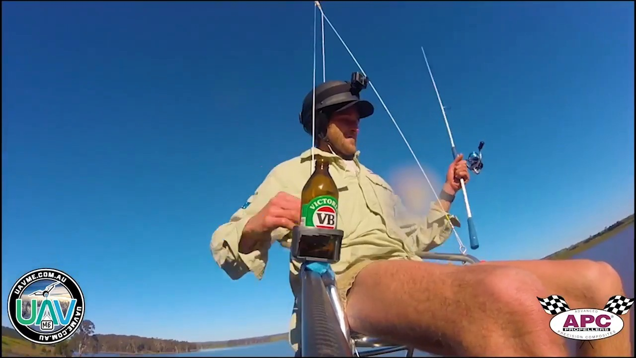 Australian man investigated after fishing while dangling from drone
