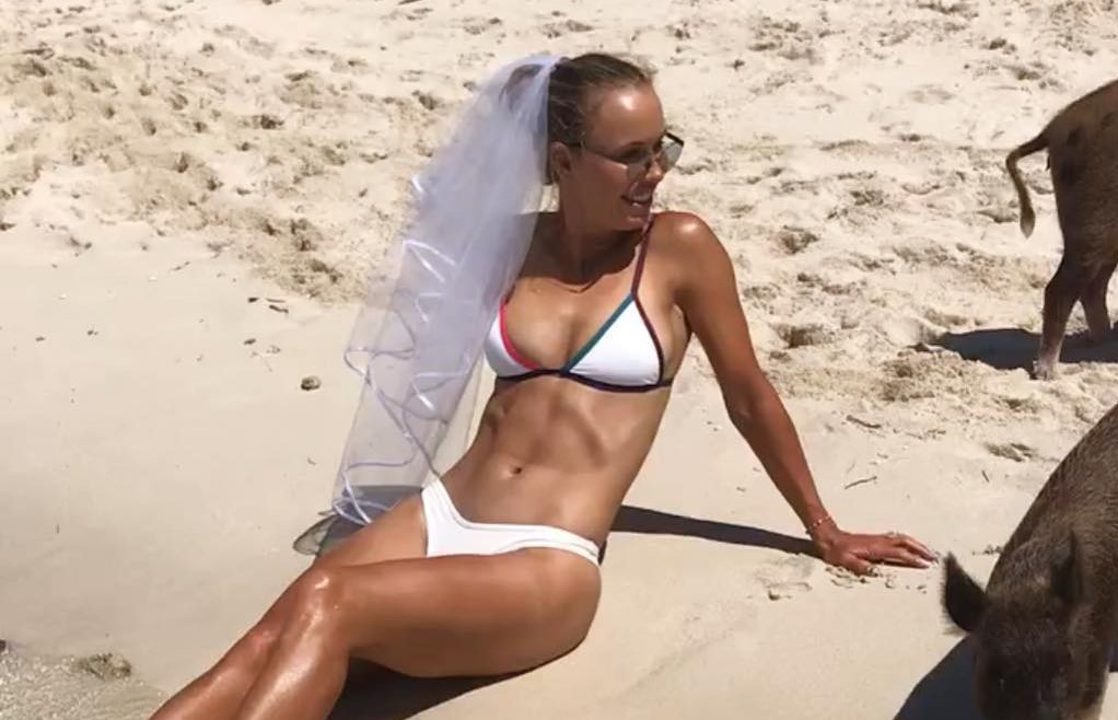Tennis: Caroline Wozniacki marries David Lee in dream Tuscan wedding