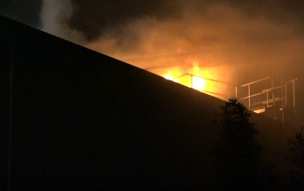 Conveyor belt spreads fire through Green Gorilla recycling plant