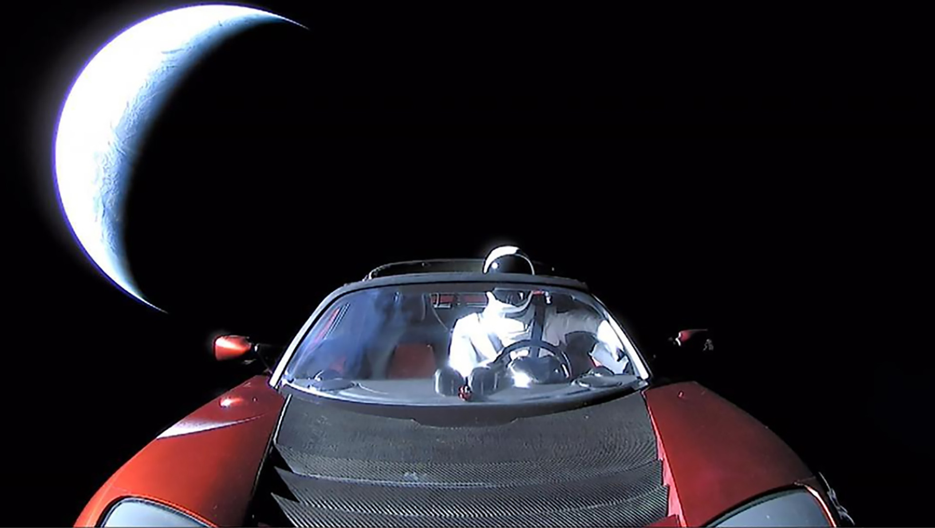 Where is Musk's Tesla Roadster now?