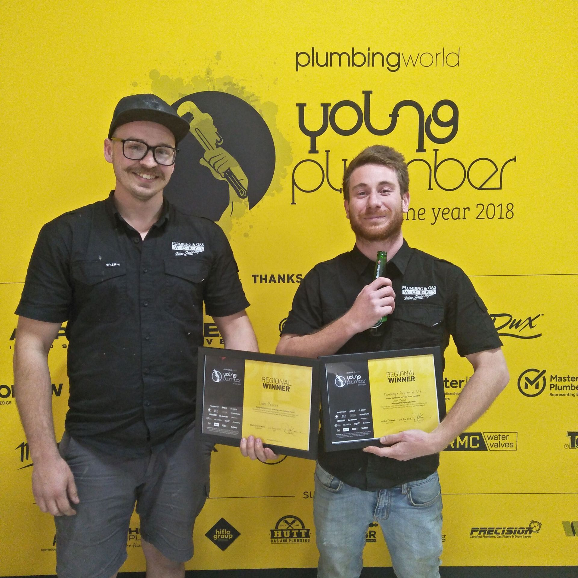 Hamilton man wins regional Young Plumber of the Year title
