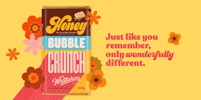 Whittaker's to release limited edition batch of Honey Bubble Crunch chocolate